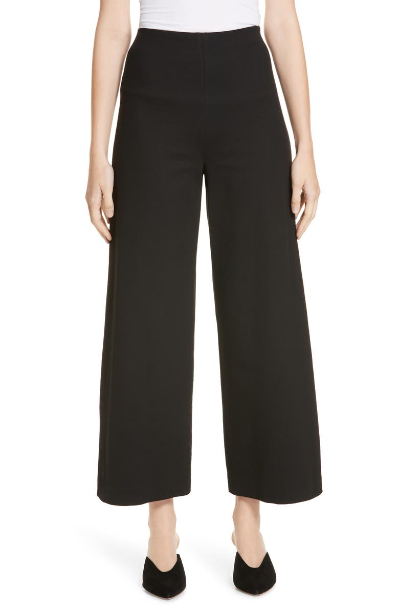 ROSETTA GETTY Pull-On Jersey Pants, Main, color, BLACK