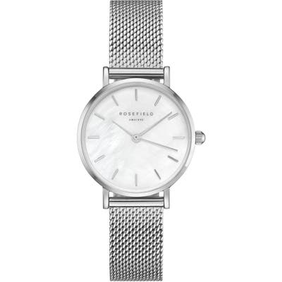 Rosefield Small Edit Stainless Steel Strap Watch, 2m