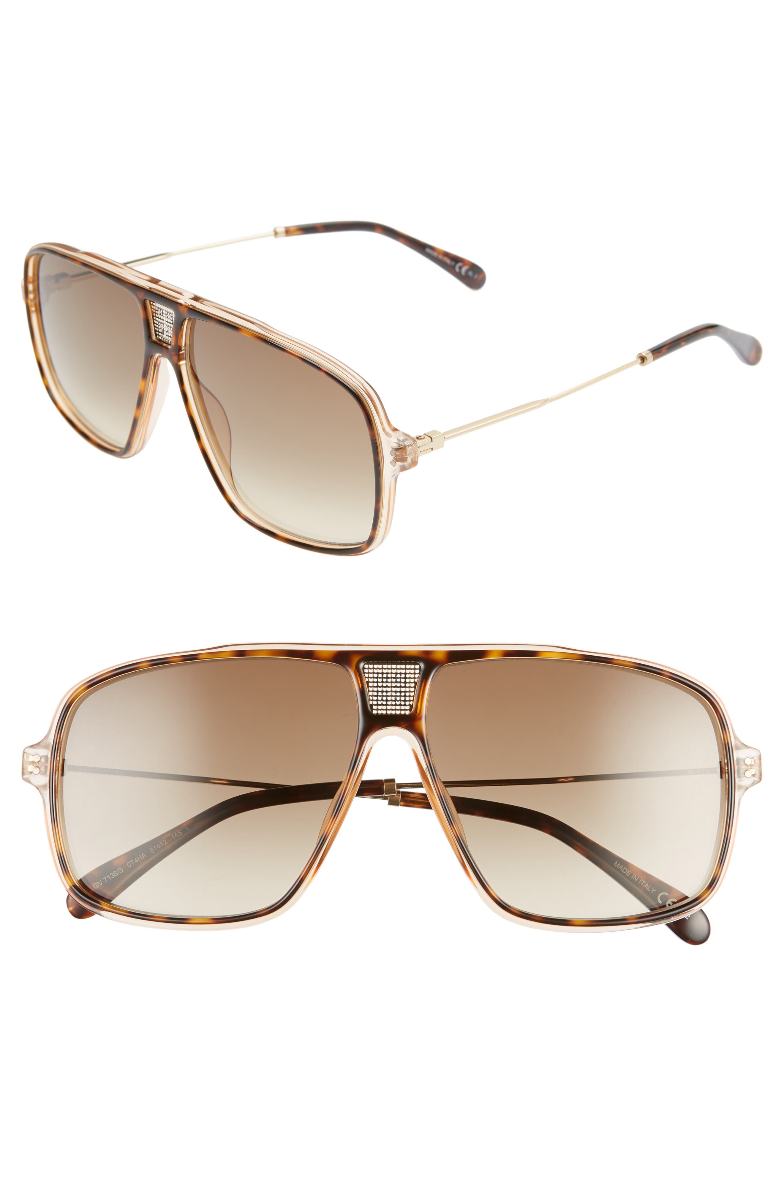 Image of Givenchy 61mm Aviator Sunglasses