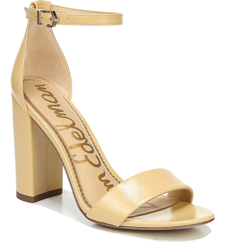SAM EDELMAN Yaro Ankle Strap Sandal, Main, color, WHEAT LEATHER