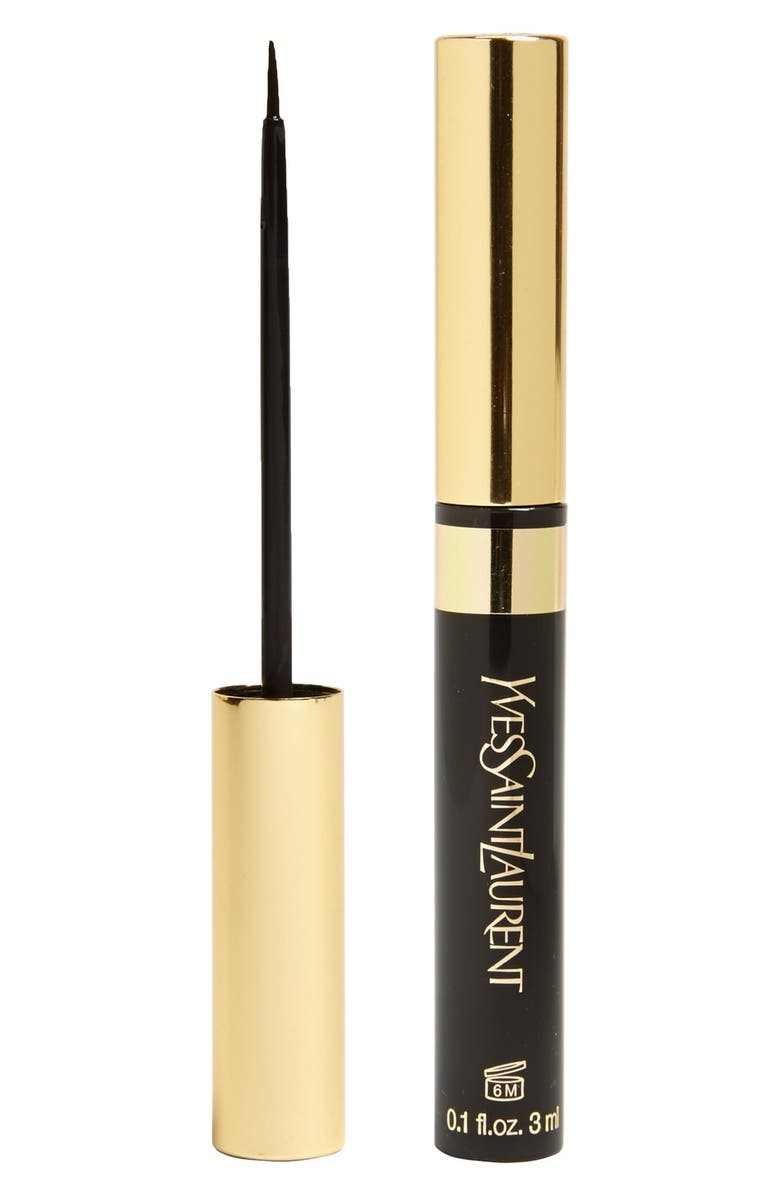 YVES SAINT LAURENT 'Eyeliner Noir' Liquid Eyeliner, Main, color, 001