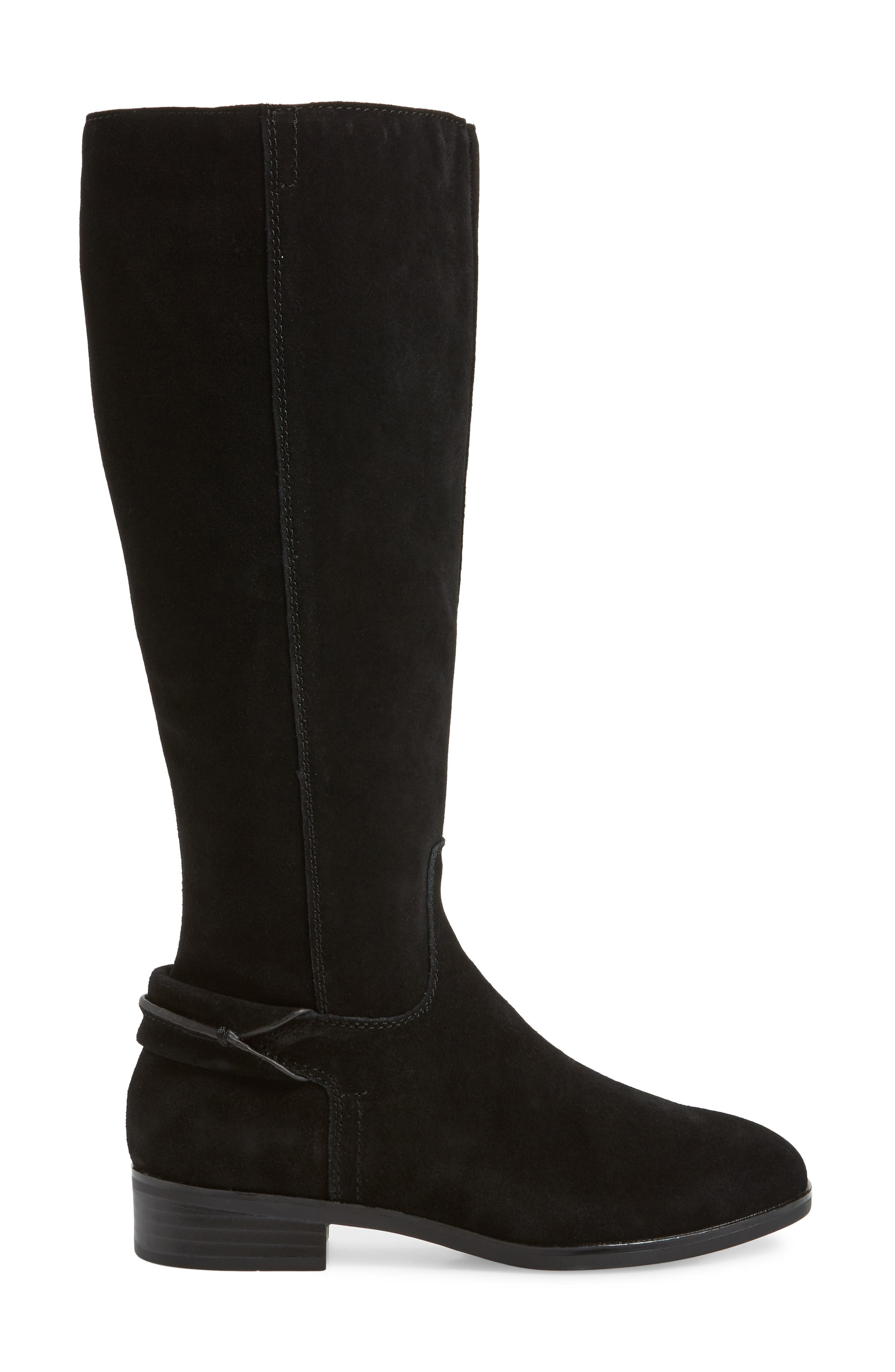 ,                             Cheverly Knee High Boot,                             Alternate thumbnail 3, color,                             BLACK SUEDE