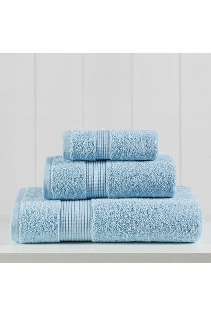 Image of Modern Threads Manor Ridge Turkish Cotton 3-Piece Towel Set - Blue