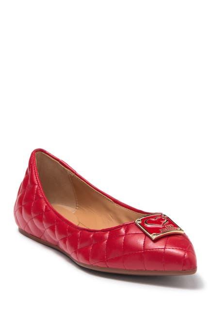 Image of LOVE Moschino Embossed Ballerina Flat