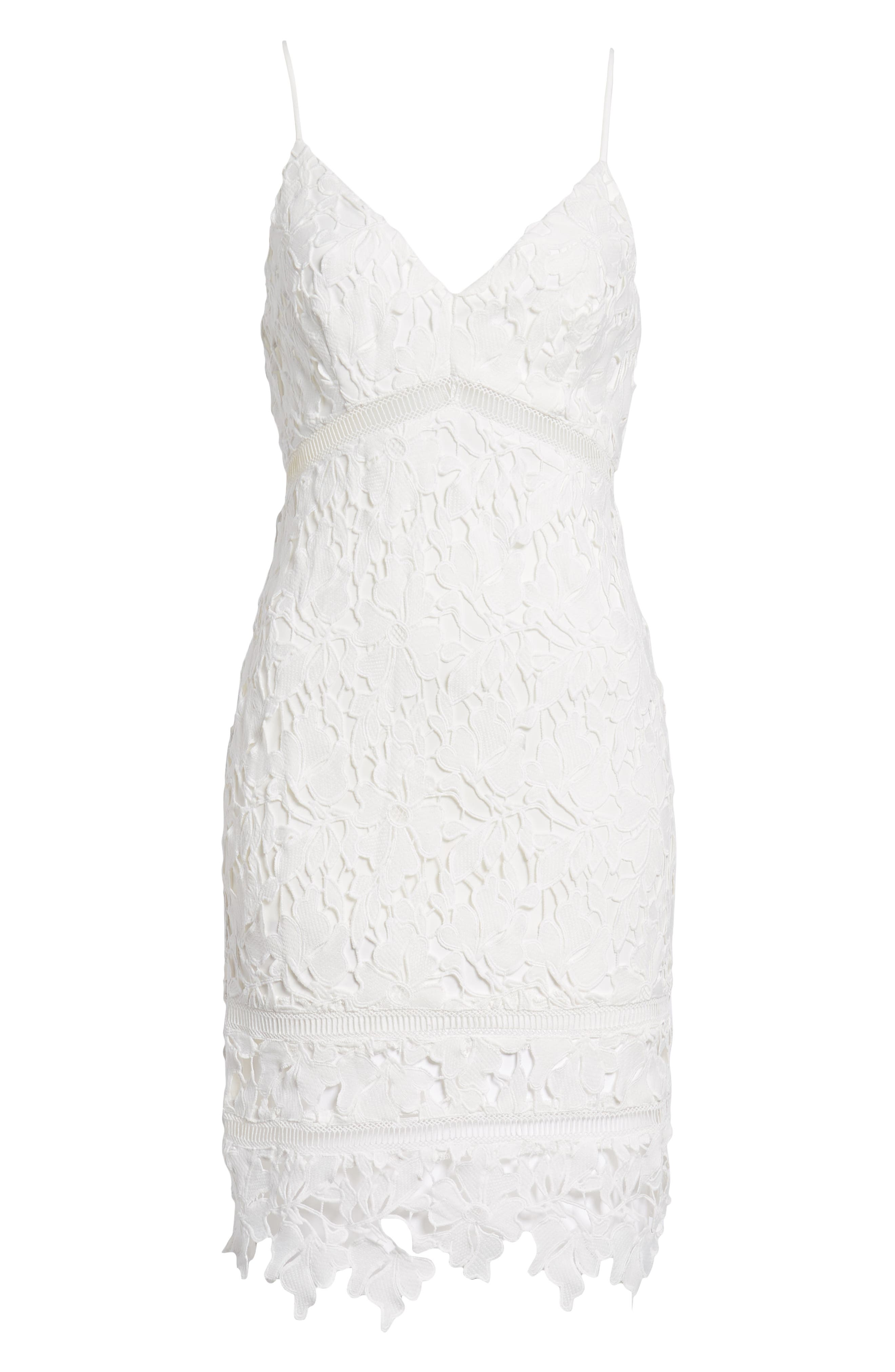 ,                             ASTR Lace Bodycon Dress,                             Alternate thumbnail 7, color,                             100