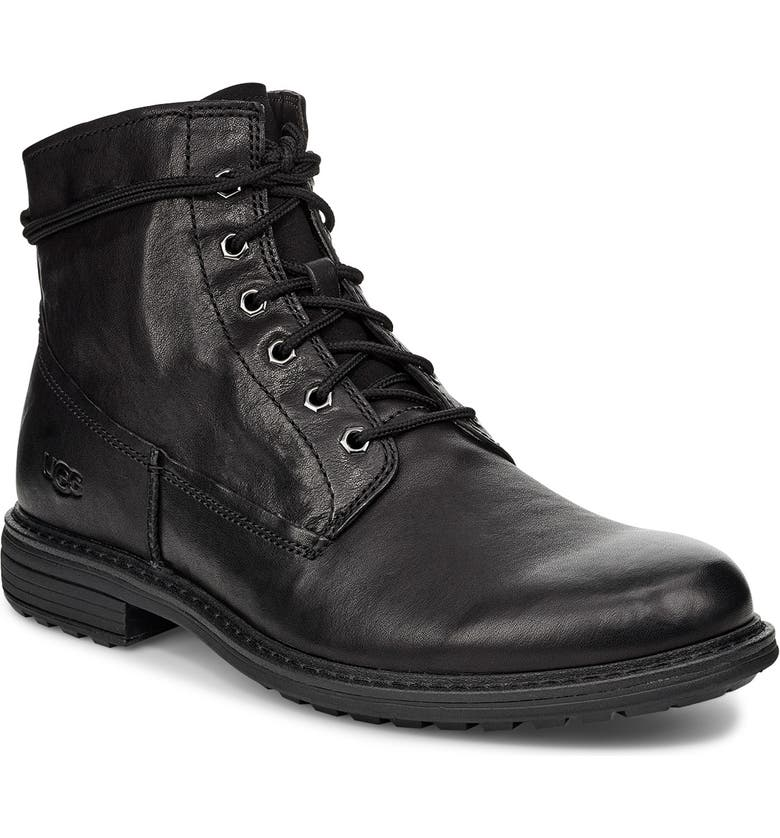 UGG<SUP>®</SUP> Morrison Plain Toe Boot, Main, color, BLACK