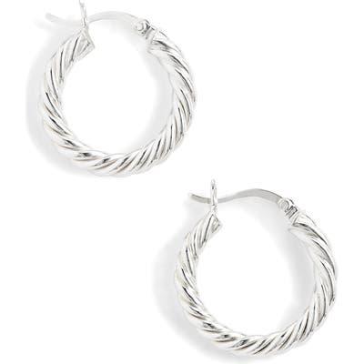Argento Vivo Small Rope Hoop Earrings