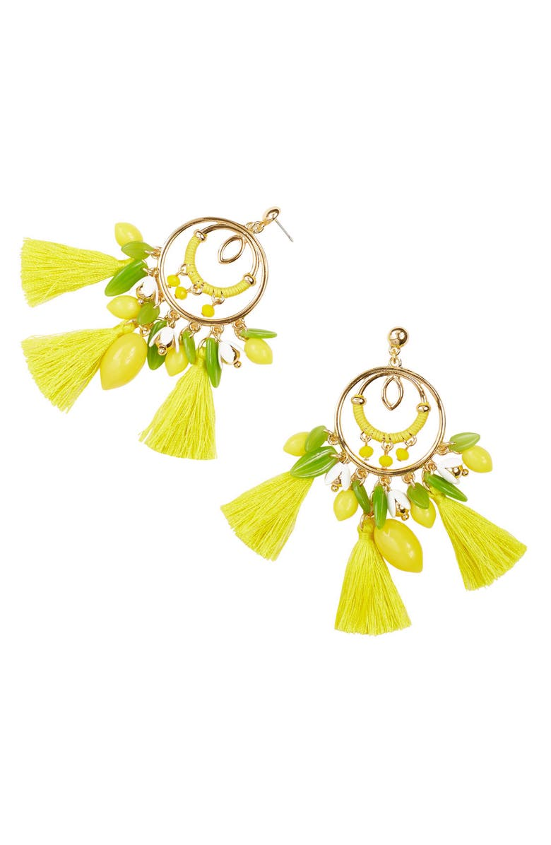 LILLY PULITZER<SUP>®</SUP> Lemon Grove Statement Earrings, Main, color, 700