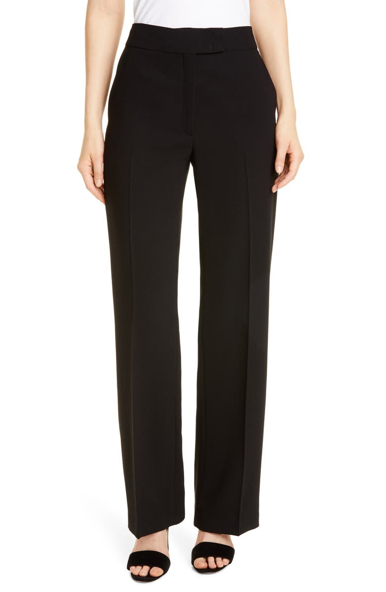 SEVENTY Flat Front Trousers, Main, color, ANTHRACITE