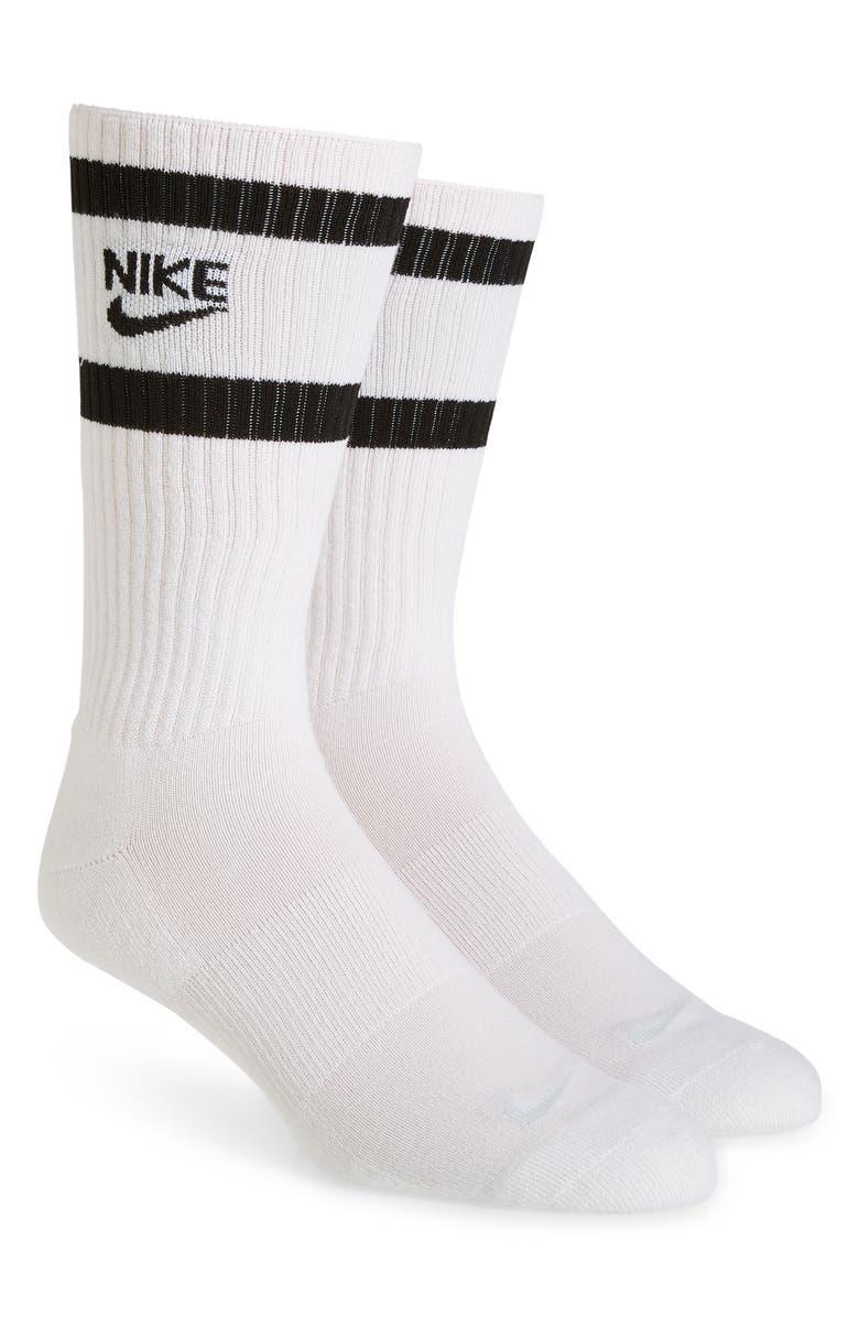 NIKE 2-Pack Crew Socks, Main, color, WHITE/ BLACK