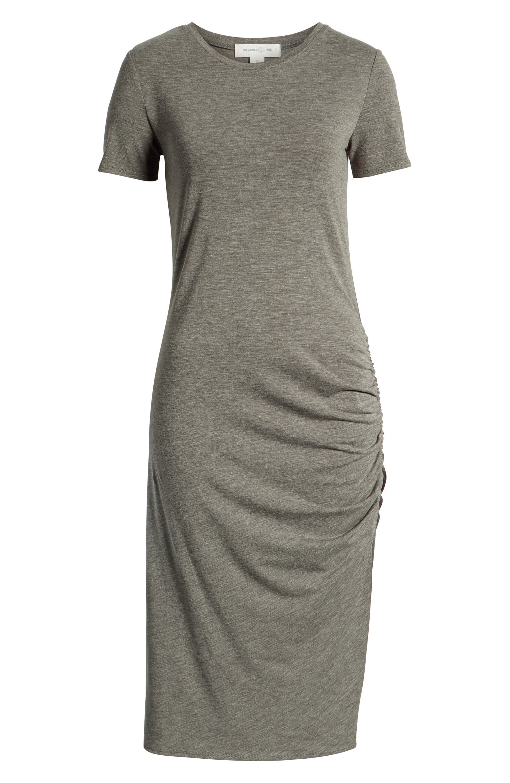 36ef7d405eb805 Treasure & Bond Side Ruched Body-Con Dress (Regular & Plus Size) | Nordstrom