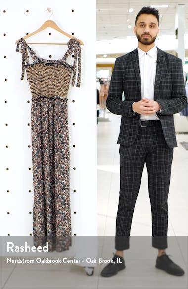 Tie Strap Floral Smocked Maxi Dress, sales video thumbnail