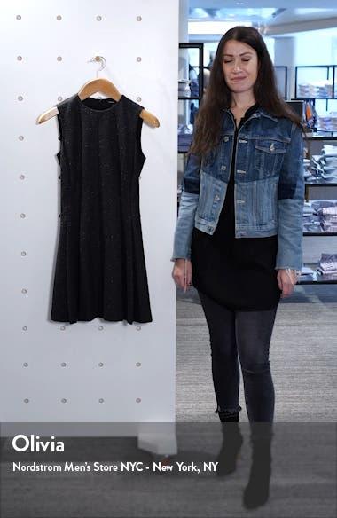 Mela Seamed Sleeveless Fit & Flare Dress, sales video thumbnail