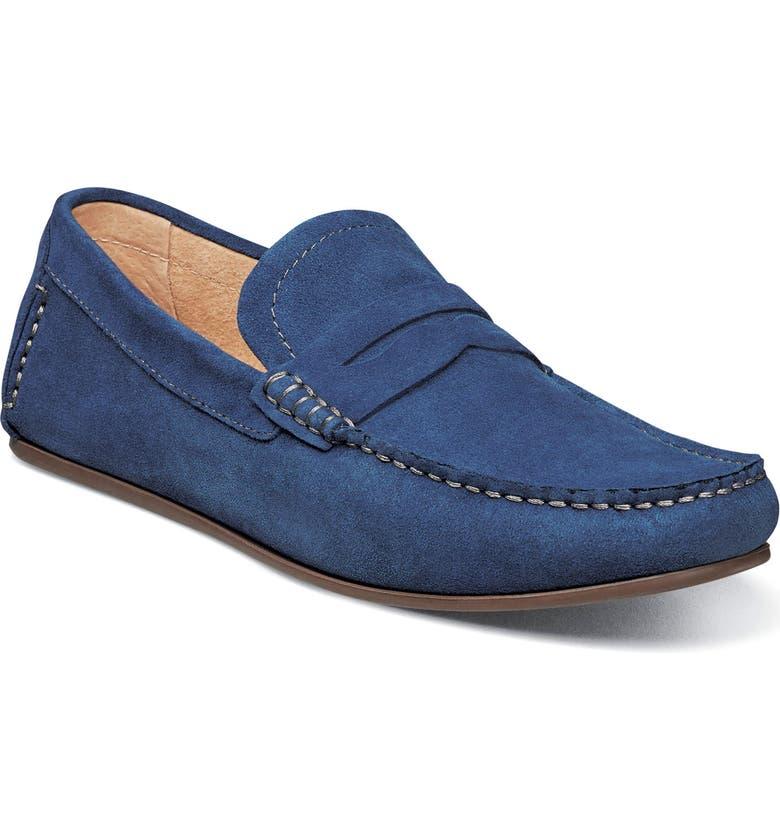 FLORSHEIM Denison Driving Loafer, Main, color, BLUE SUEDE