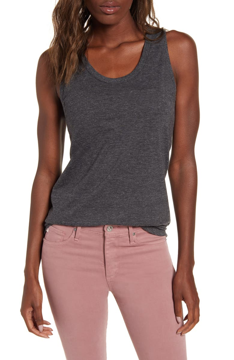 AG Cambria Tank, Main, color, HEATHER CHARCOAL