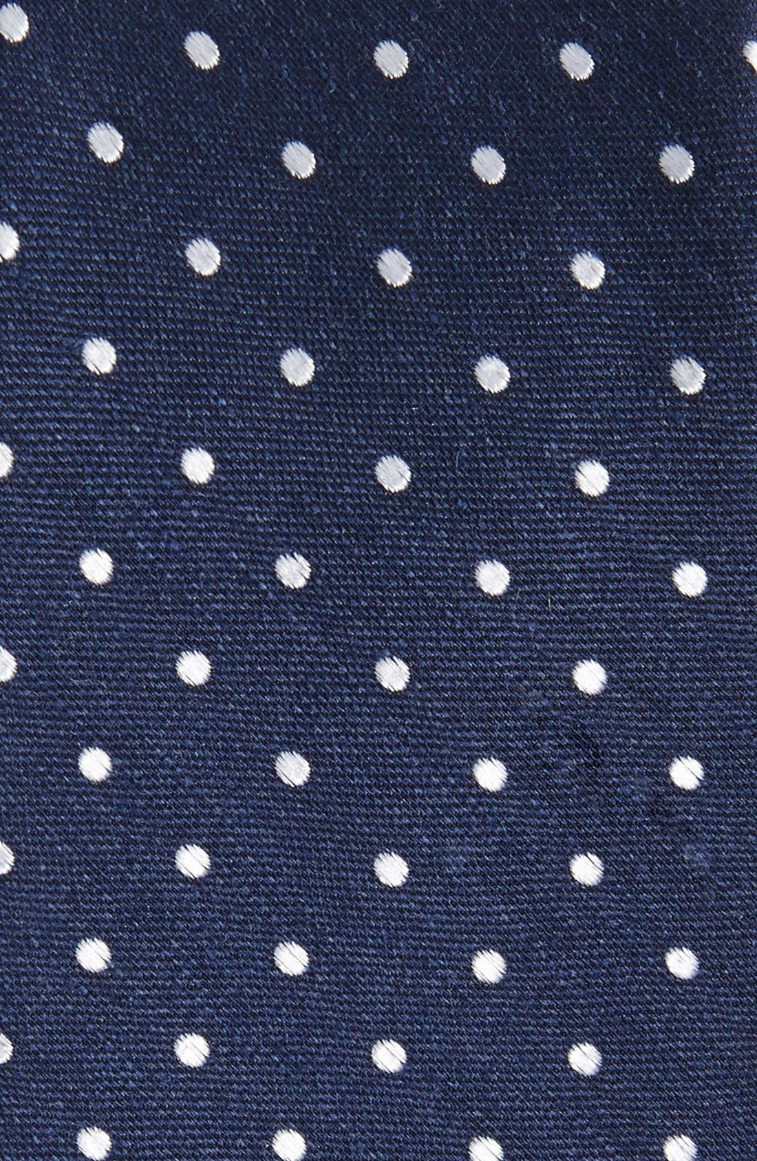 ,                             Dot Silk & Linen Tie,                             Alternate thumbnail 2, color,                             NAVY