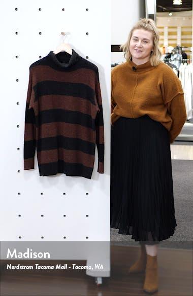 Wide Stripe Tunic Sweater, sales video thumbnail