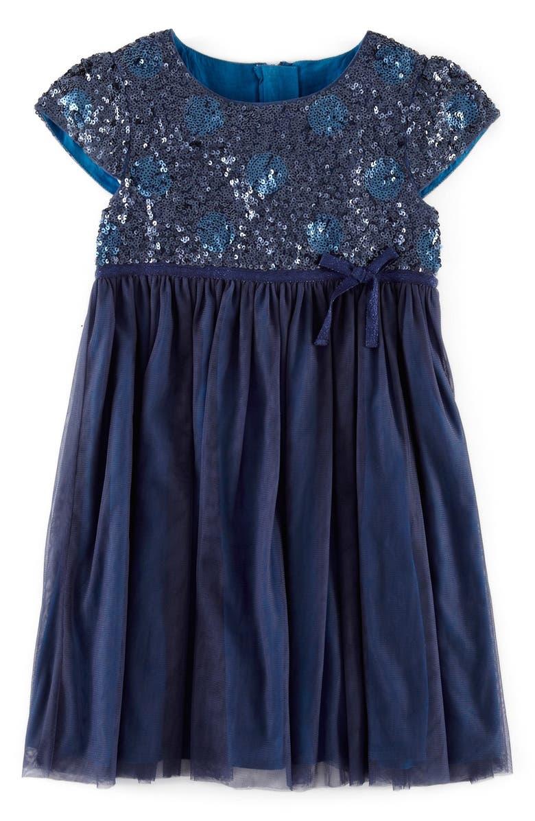 MINI BODEN Sequin Party Dress, Main, color, 414
