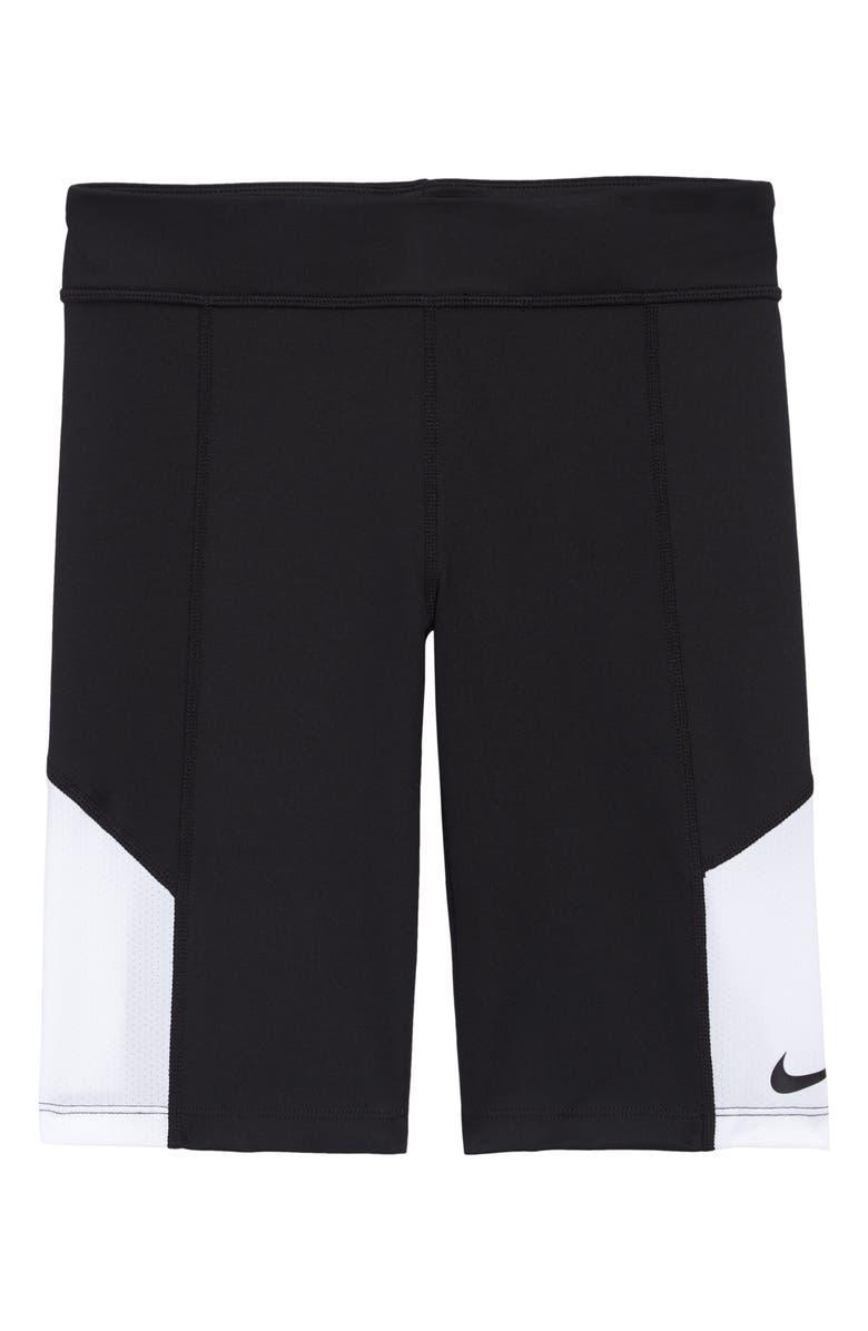NIKE Trophy Bike Shorts, Main, color, BLACK/ WHITE/ BLACK