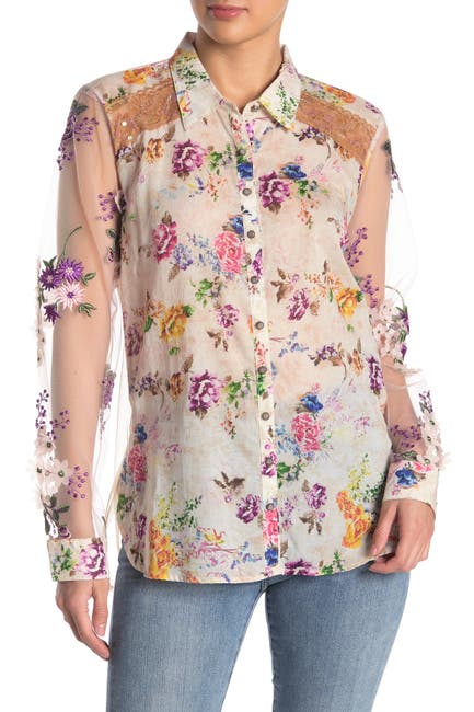 Image of ARATTA Empress Marie Louise Button Down Shirt