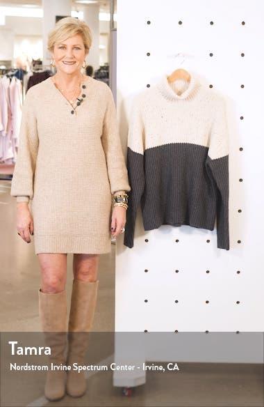 Colorblock Turtleneck Sweater, sales video thumbnail