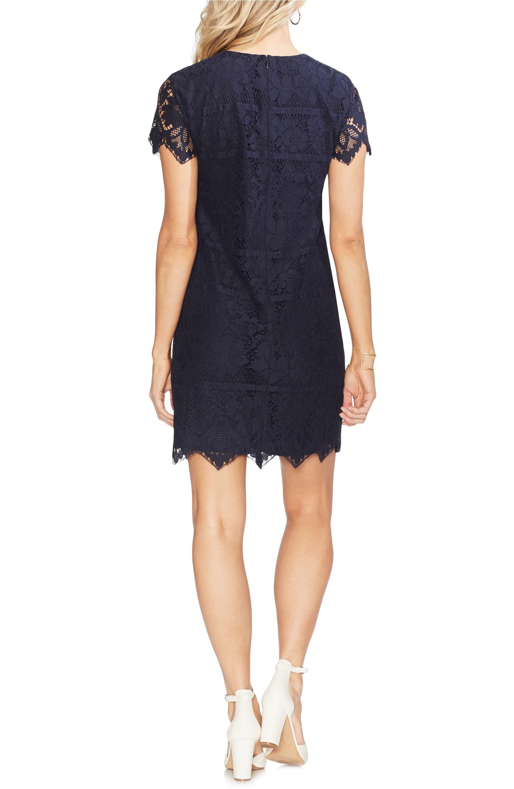 Vince Camuto Bordered Lace Shift Dress Nordstrom