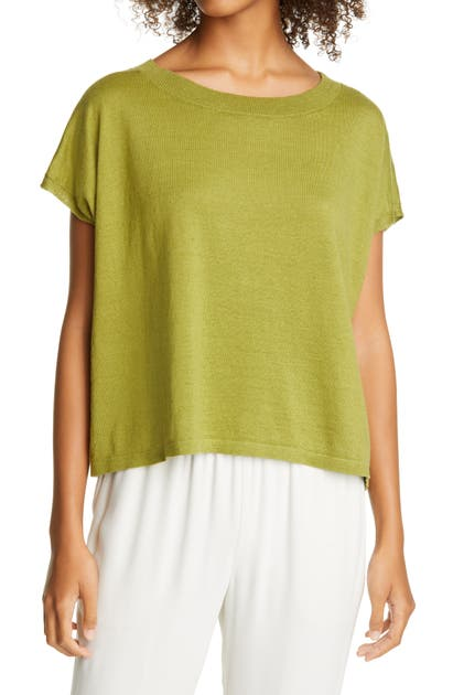 EILEEN FISHER ORGANIC LINEN & ORGANIC COTTON SWEATER