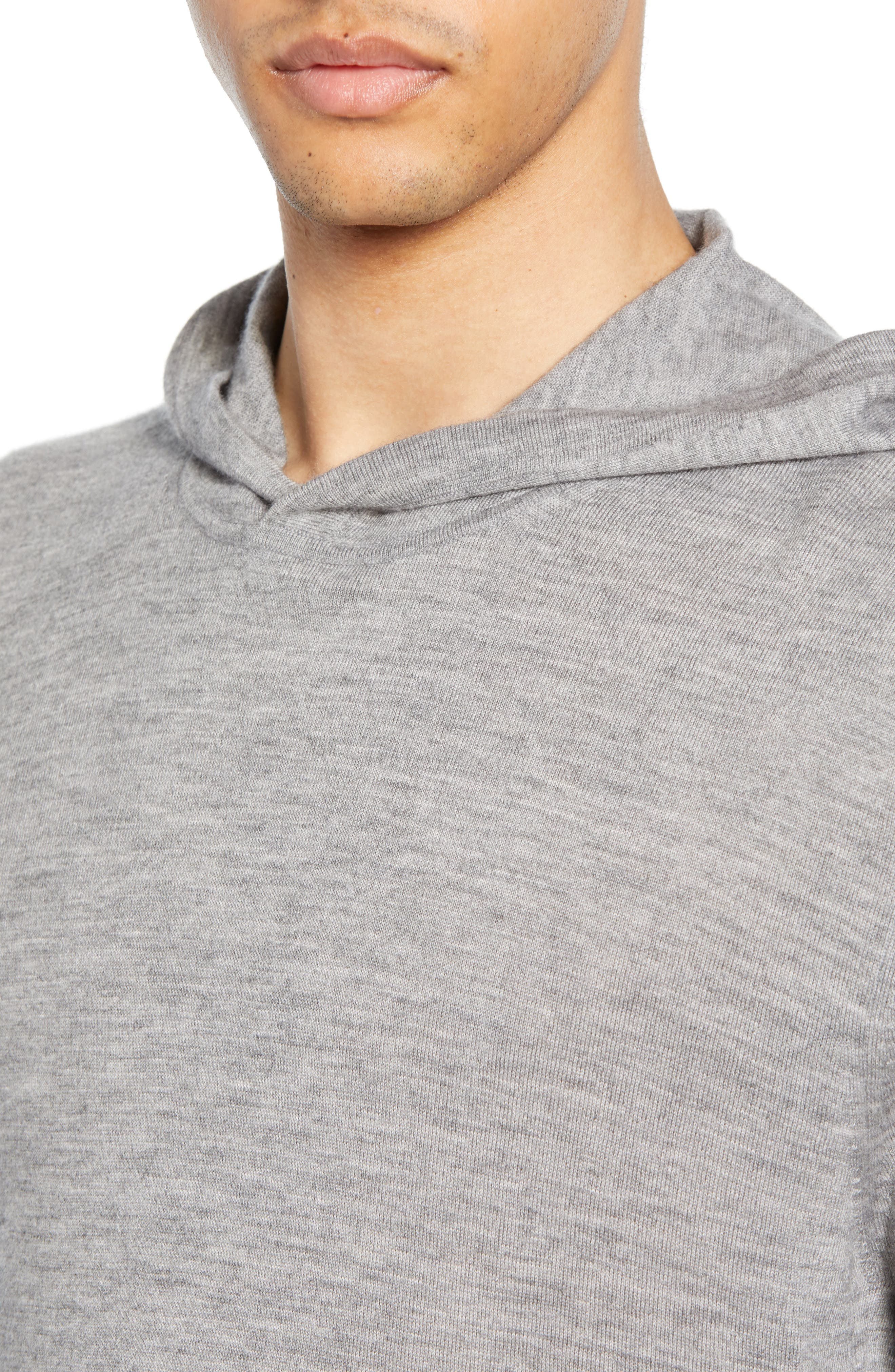 ,                             Wool & Cashmere Pullover Hoodie,                             Alternate thumbnail 4, color,                             H GREY