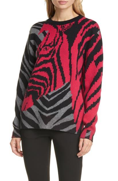 Rag & Bone Sweaters ZEBRA CASHMERE SWEATER