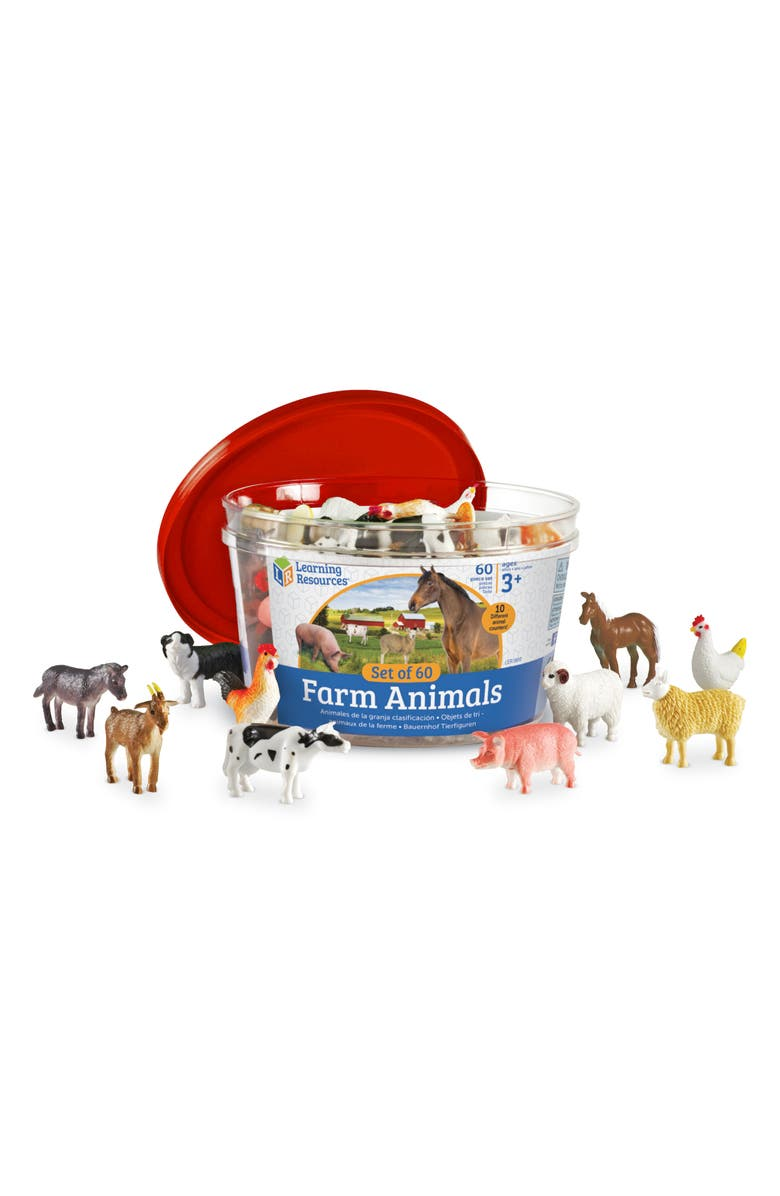 LEARNING RESOURCES Farm Animal Counter Set, Main, color, MULTI