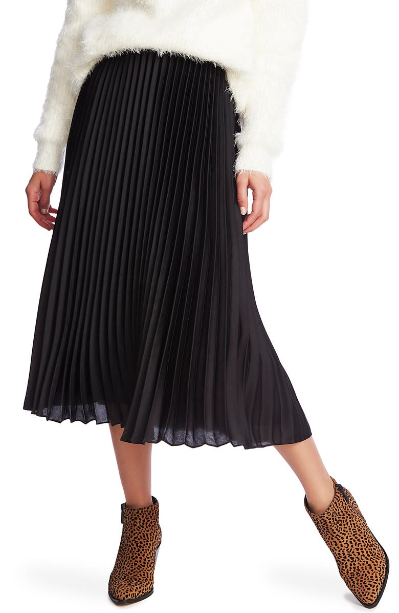 1.STATE Charmeuse Pleated Midi Skirt, Main, color, 001