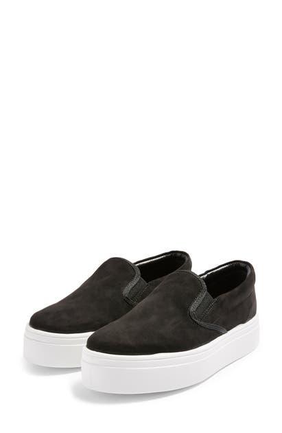 Topshop Platform Sneaker In Black