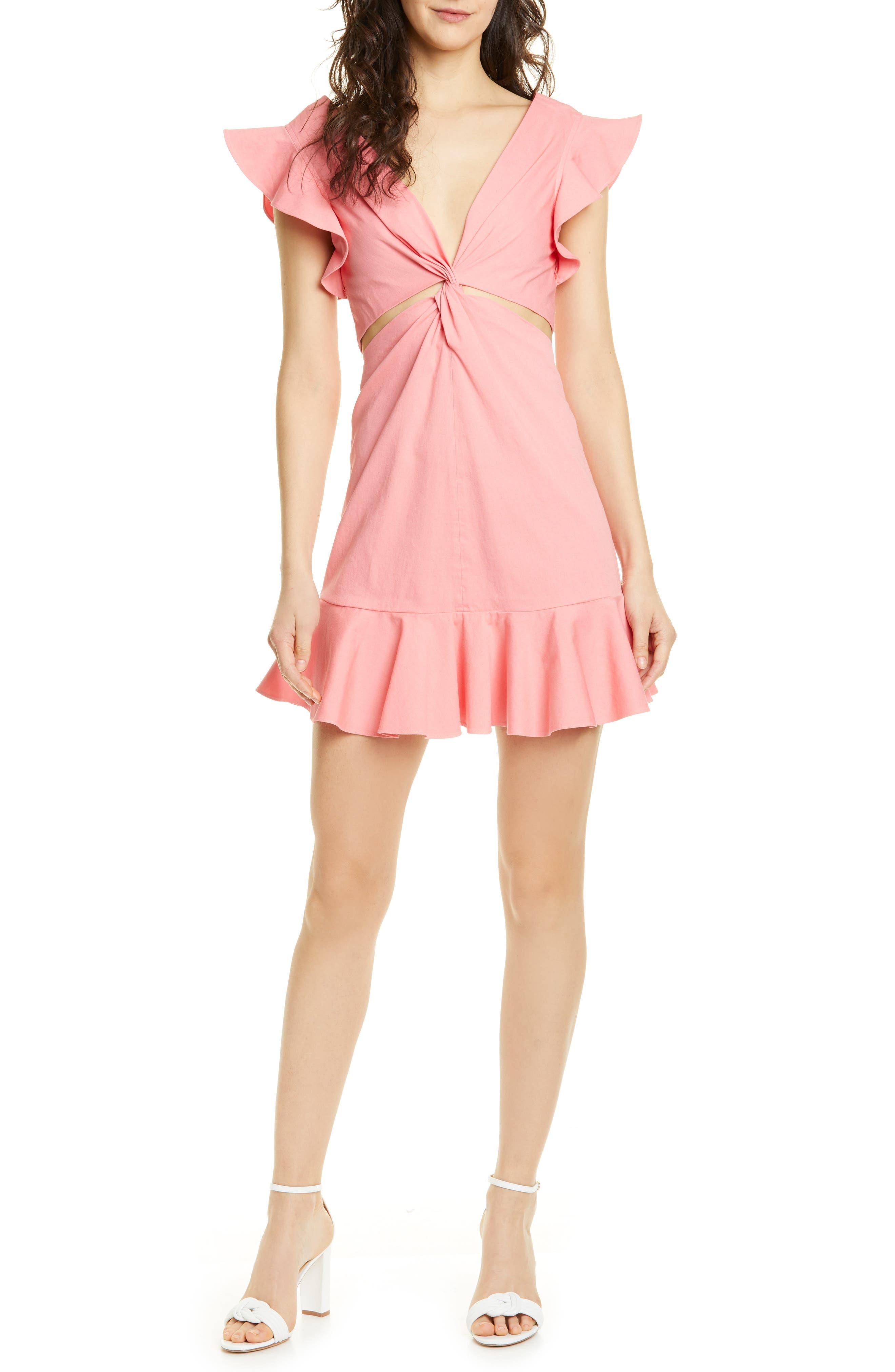 La Vie Rebecca Taylor Cutout Minidress, Pink