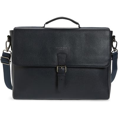 Ted Baker London Departs Leather Satchel - Blue
