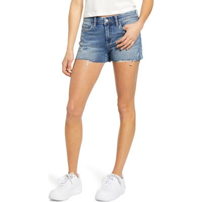 Blanknyc Essex Cutoff Denim Shorts, Blue