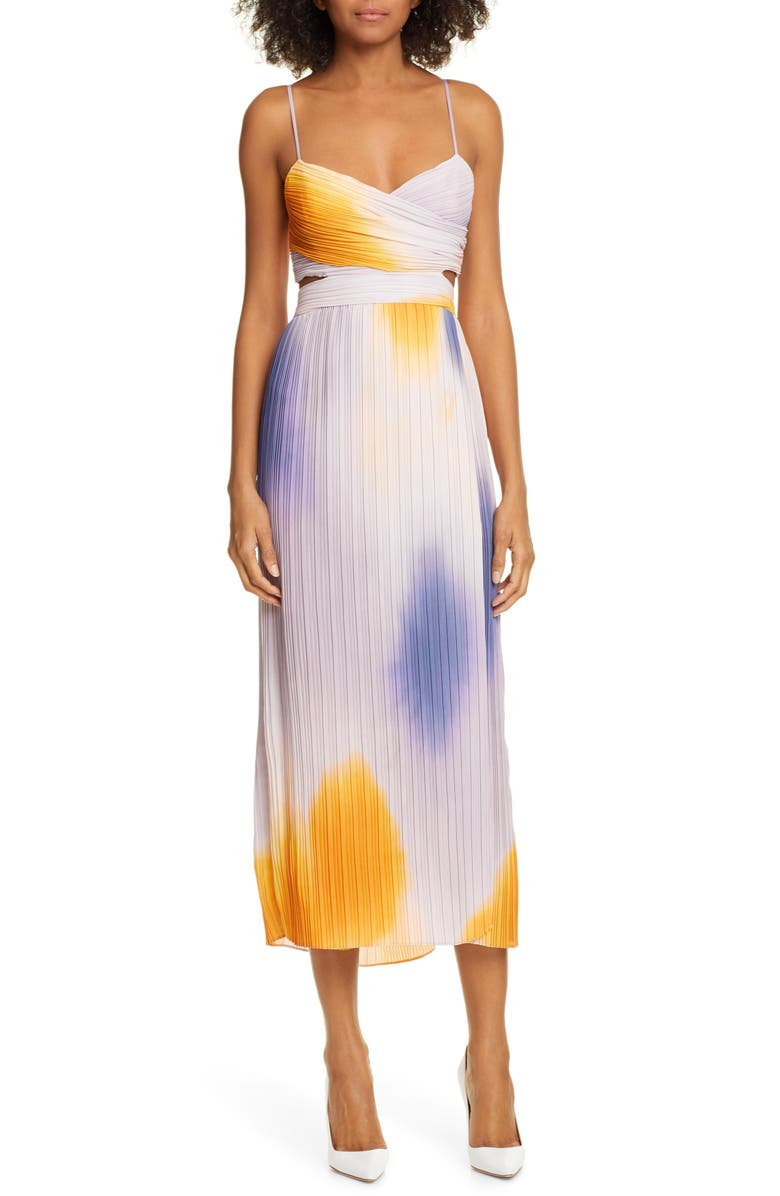 A.L.C. Sienna Ombré Midi Dress, Main, color, 100