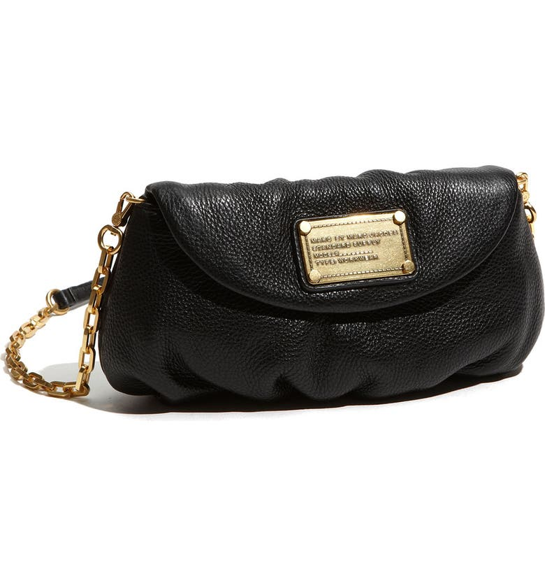 MARC JACOBS MARC BY MARC JACOBS 'Classic Q - Karlie' Crossbody Flap Bag, Main, color, 001
