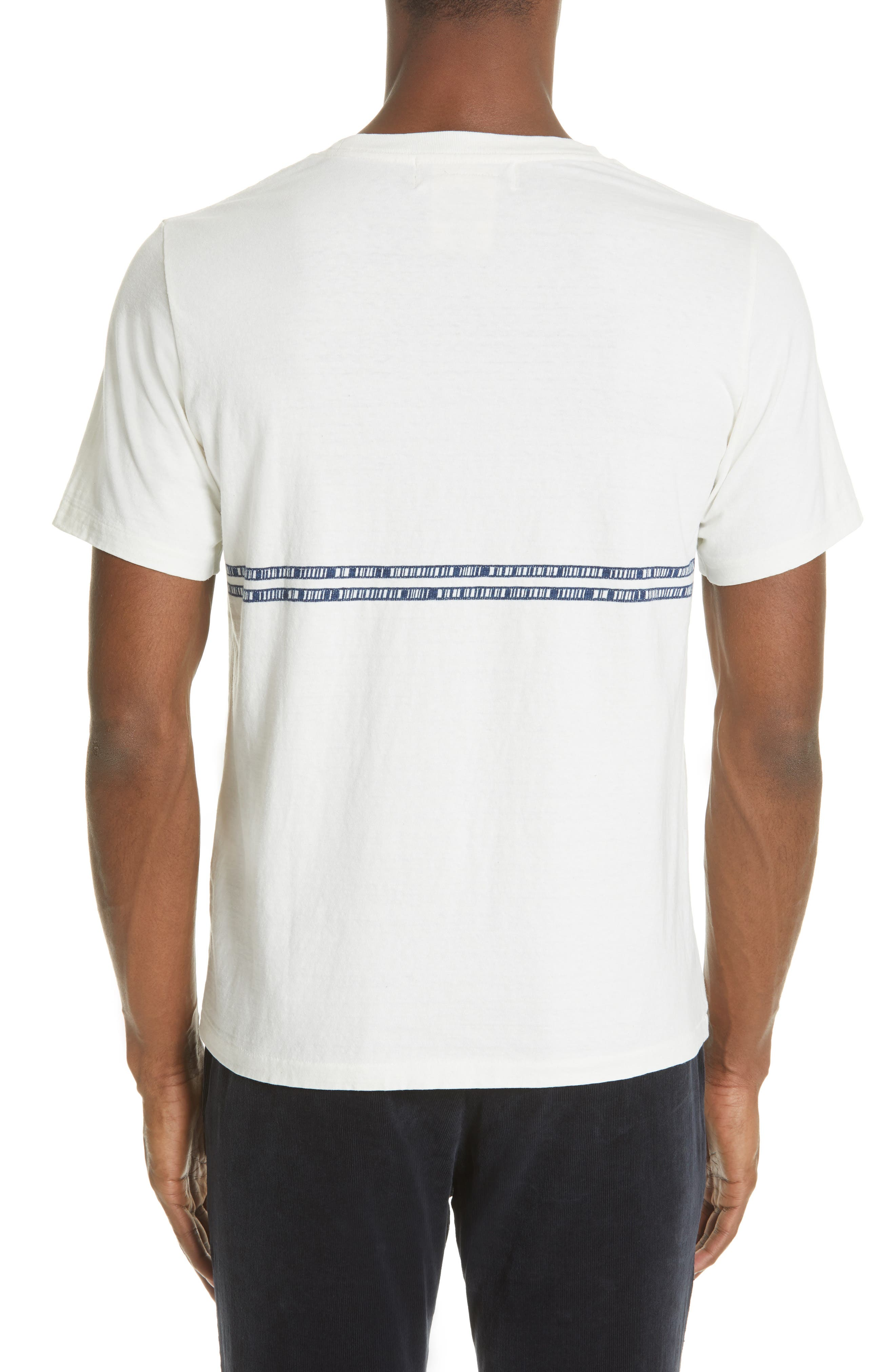 ,                             Embroidered Stripe T-Shirt,                             Alternate thumbnail 2, color,                             100