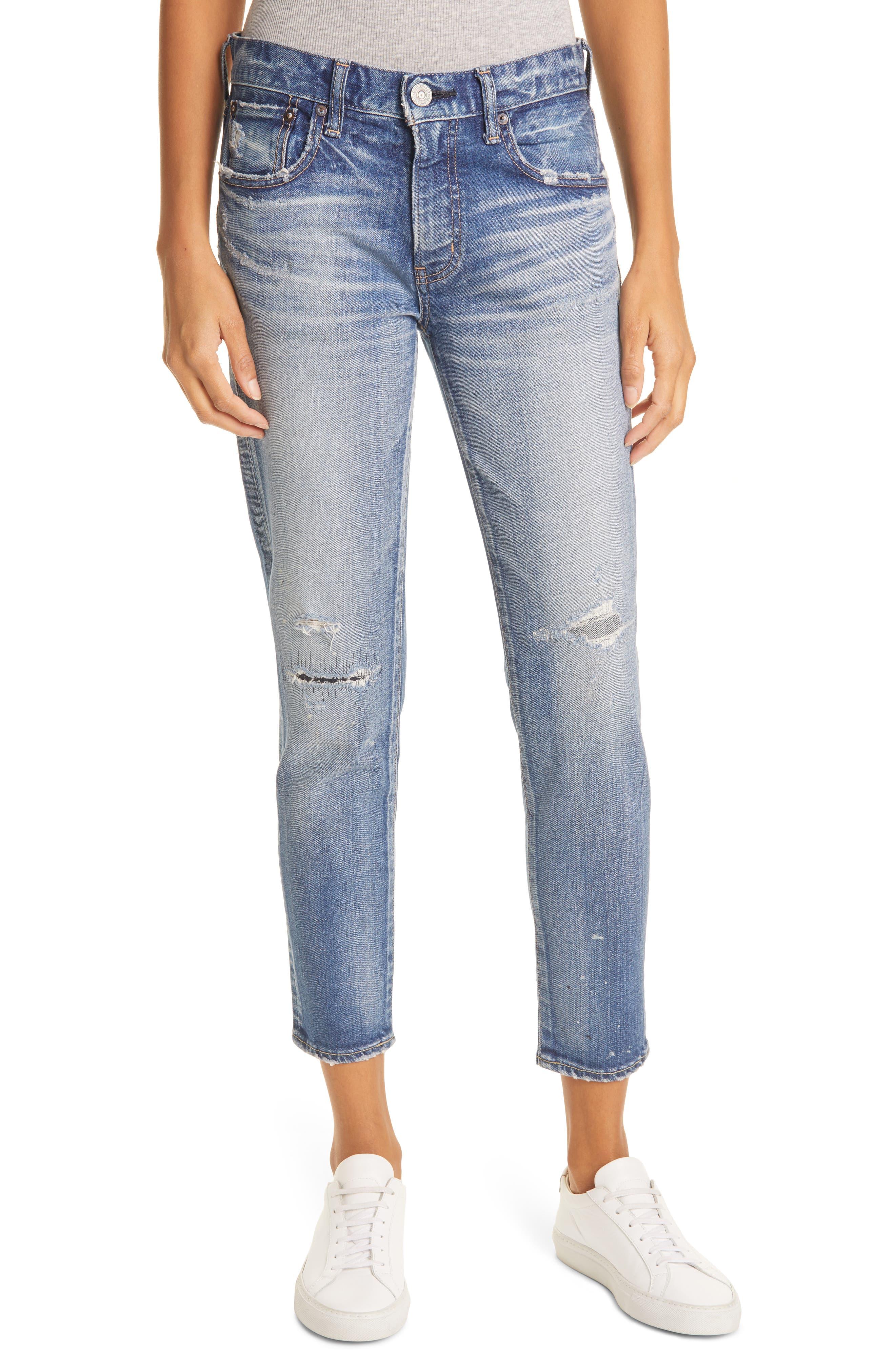 Lancaster Distressed Ankle Skinny Jeans