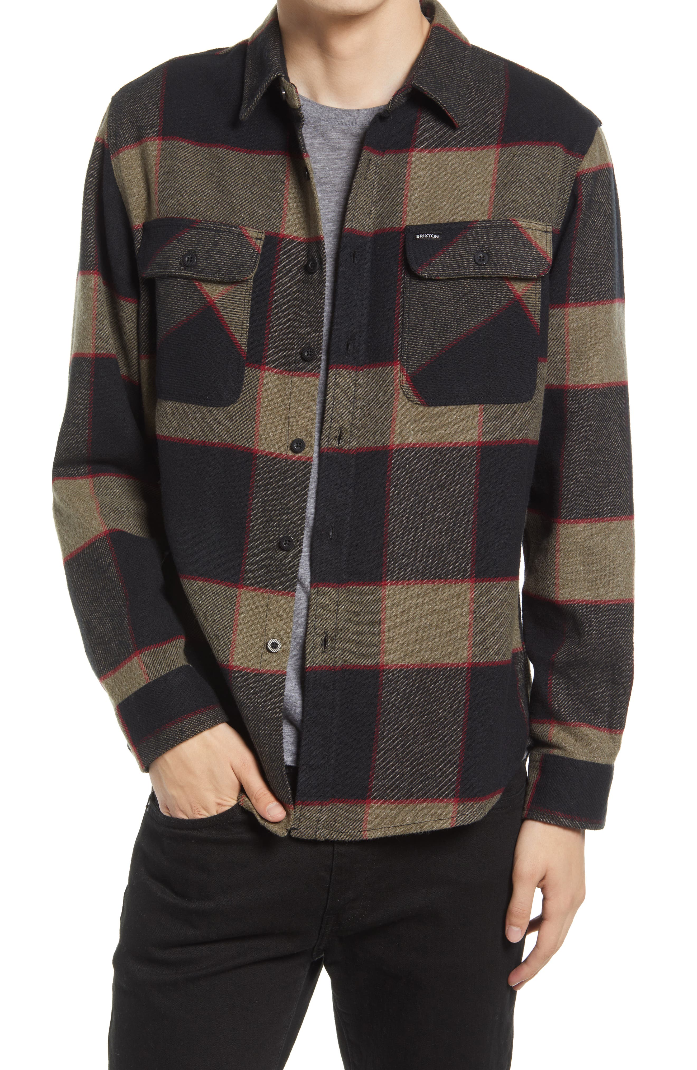 Bowery Slim Fit Plaid Flannel Button-Up Shirt