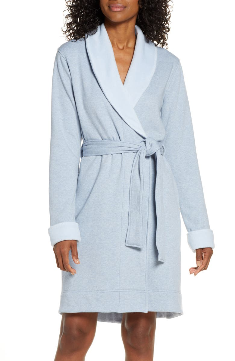 UGG<SUP>®</SUP> Blanche II Short Robe, Main, color, FRESH AIR HEATHER