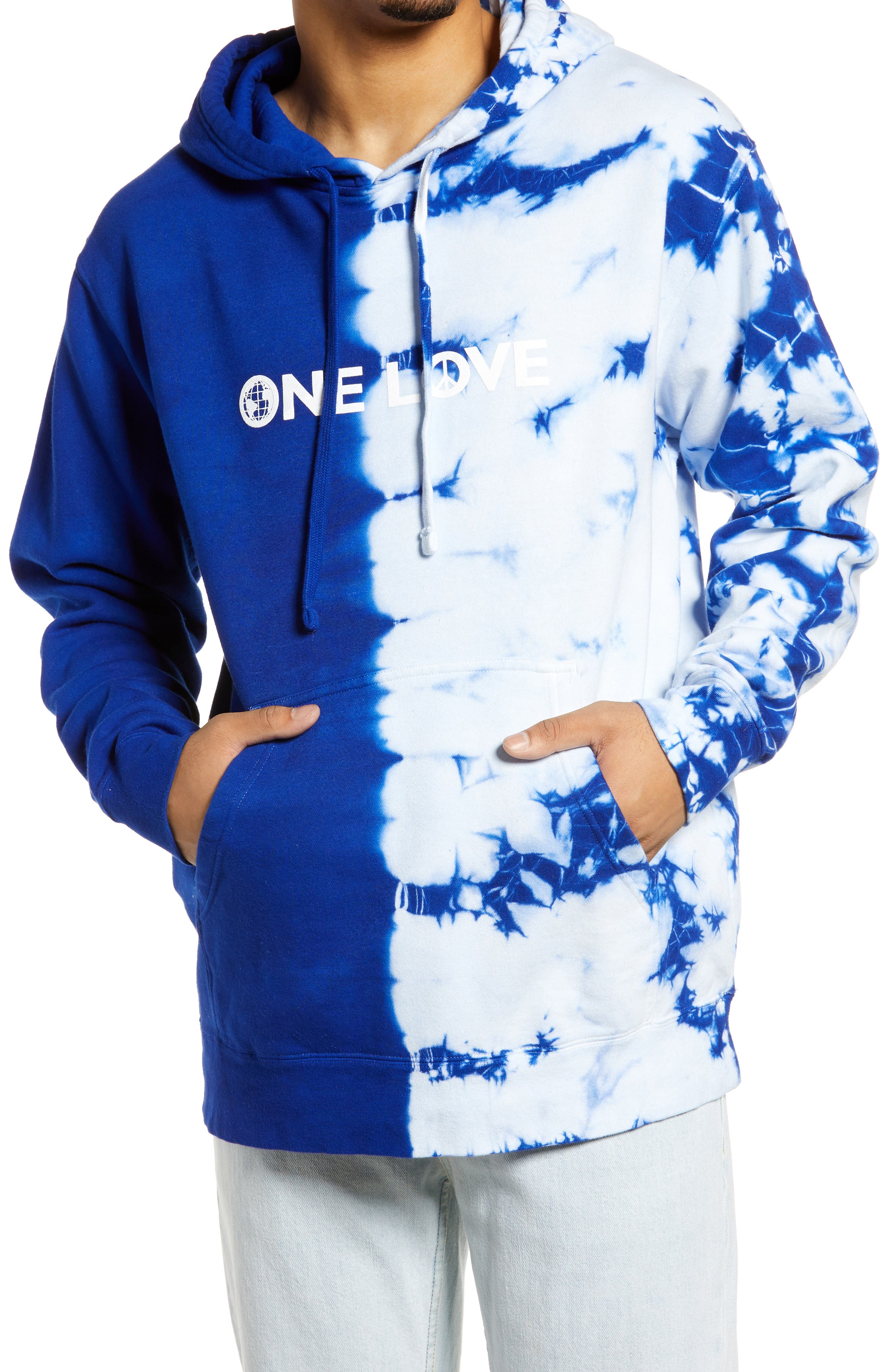 One Love Tie Dye Hooded Sweatshirt
