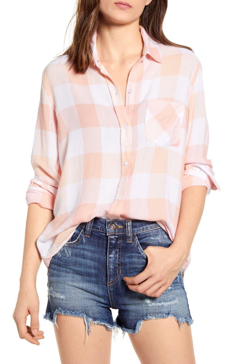 RAILS Charli Shirt, Main, color, PEACH PEARL IN SKY BLUE
