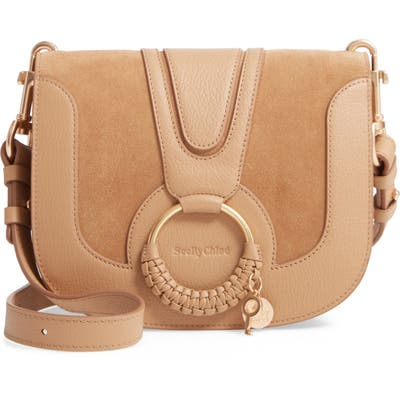 See By Chloe Hana Suede & Leather Shoulder Bag - Brown