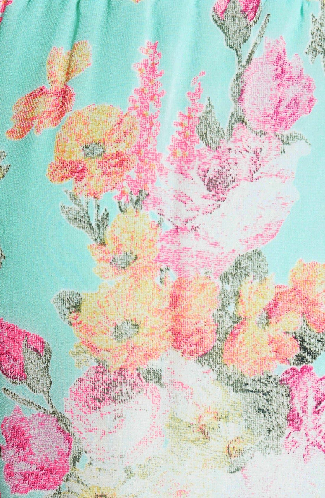 ,                             Lace Trim Floral Print Shorts,                             Alternate thumbnail 23, color,                             403