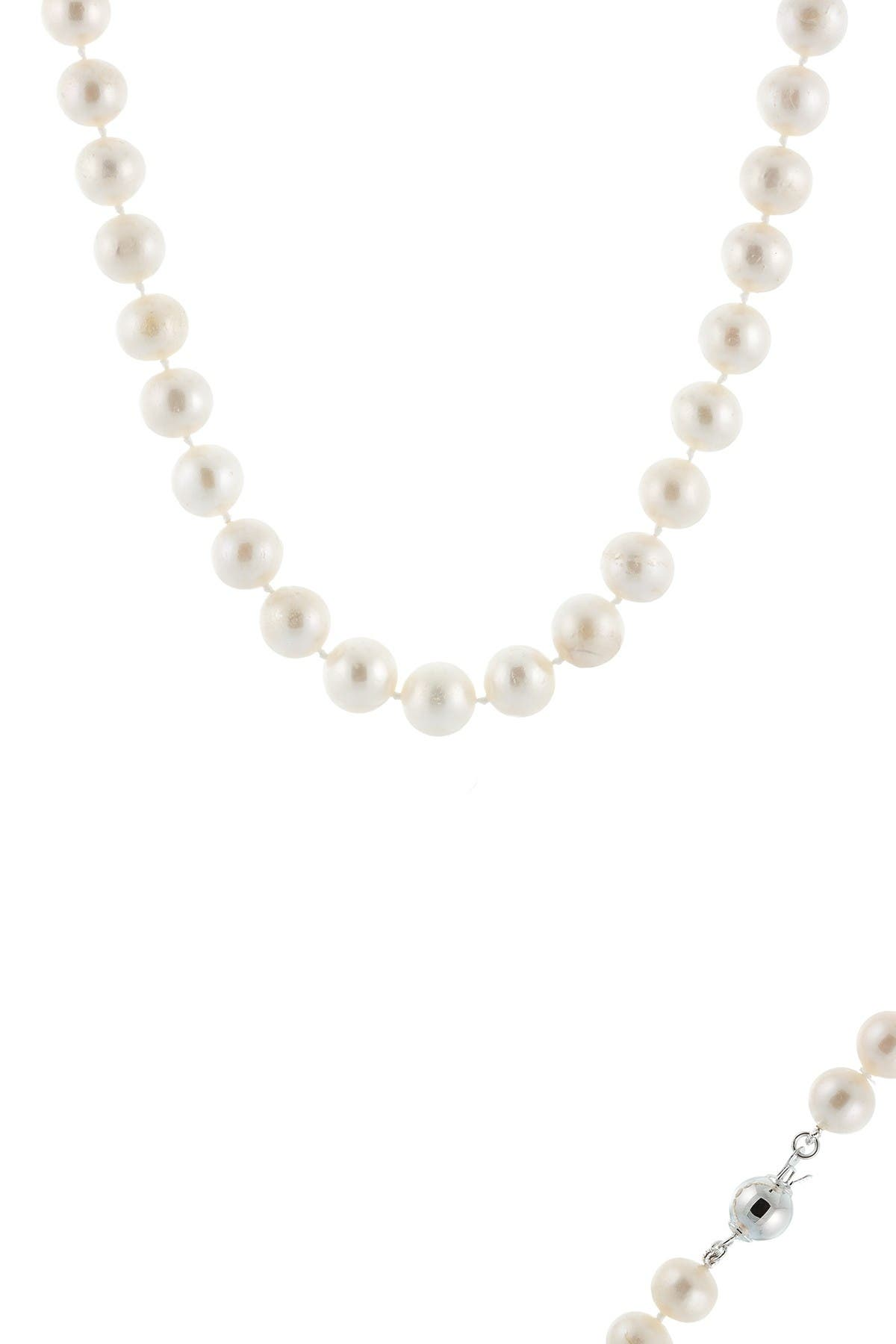 Image of Splendid Pearls Sterling Silver 9-10mm Cultured Freshwater Pearl Necklace