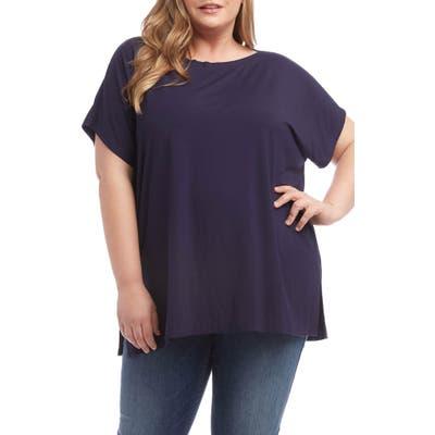 Plus Size Karen Kane Boatneck Tunic Tee, Blue