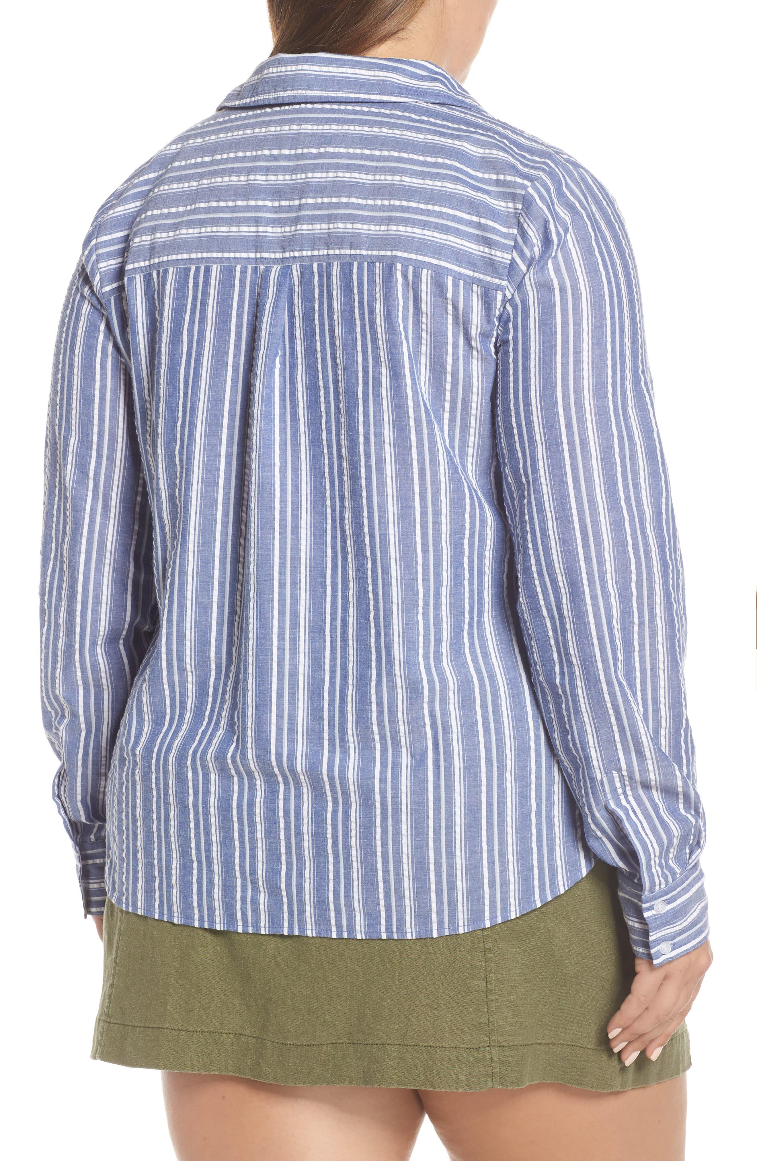 ,                             Seersucker Shirt,                             Alternate thumbnail 4, color,                             030