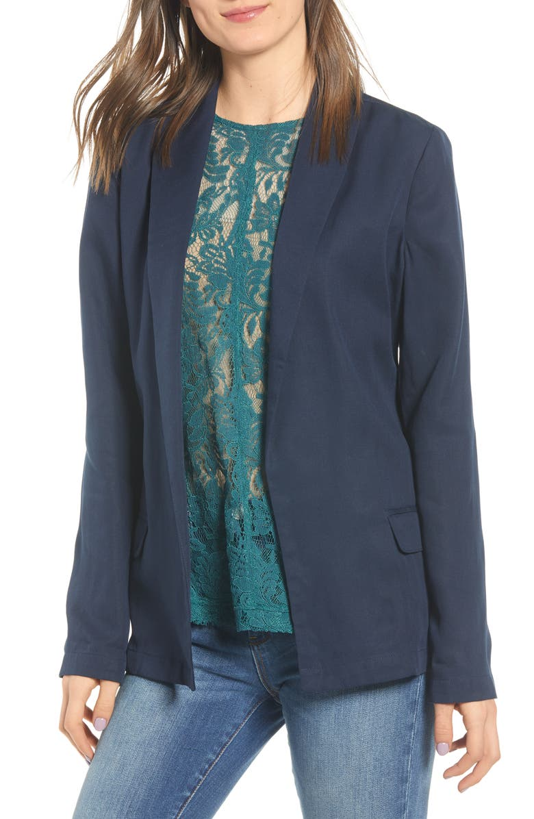 CHELSEA28 Shawl Collar Blazer, Main, color, 401