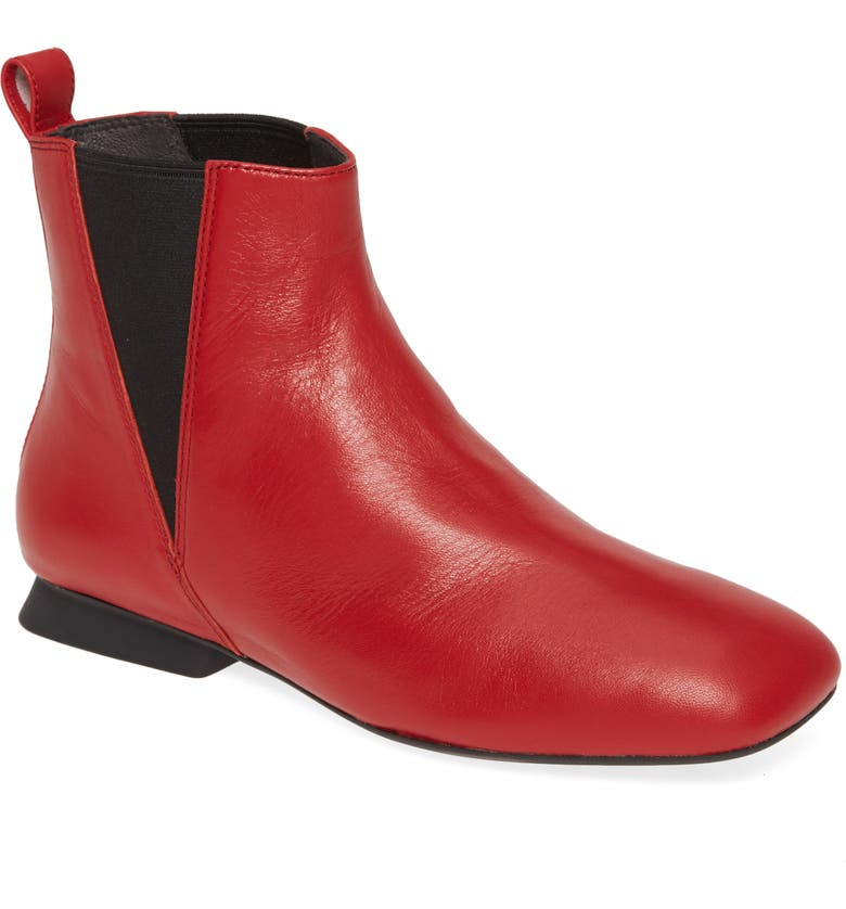 CAMPER Casi Myra Bootie, Main, color, RED LEATHER